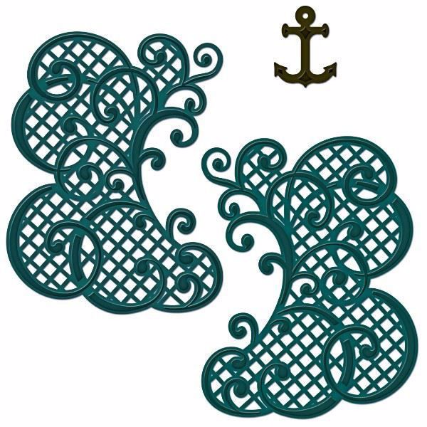 Decorative Lattice Swirl fra Heartfelt Creations - HCD 733