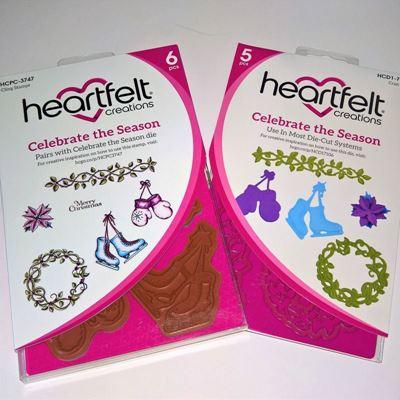 Celebrate the Season dies og stempelsæt fra Heartfelt Creations  HCD1-7106 og HCPC-3747