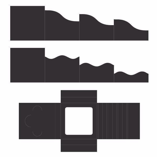 Folde kort og skyggeboks, Foldout Cards fra Heartfelt Creations - HCCF1-445-1