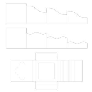 Folde kort og skyggeboks, Foldout Cards fra Heartfelt Creations - HCCF1-445-2