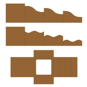 Folde kort og skyggeboks, Foldout Cards fra Heartfelt Creations - HCCF1-445-3