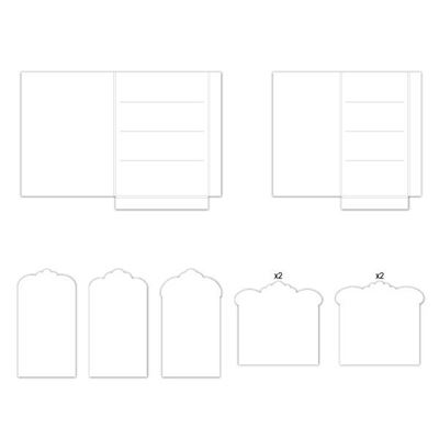 Folde album med tags fra Heartfelt Creations - HCFP2-440-2