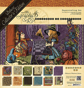Papir blok 12x12 mm fra Graphic 45 - Halloween in Wonderland - Deluxe Collector's Edition