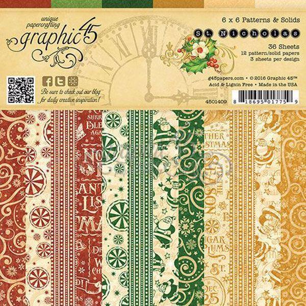 Papir blok 6x6 fra Graphic 45 - St. Nicholas