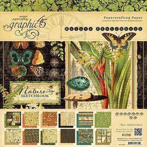 Papir blok 8x8 fra Graphic 45 - Nature Sketchbook