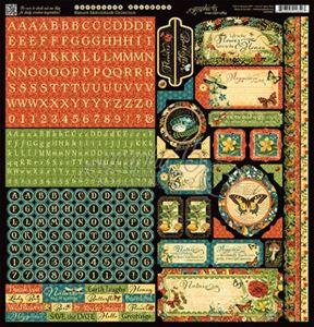 Stickers klistermærker fra Graphic 45 - Nature Sketchbook