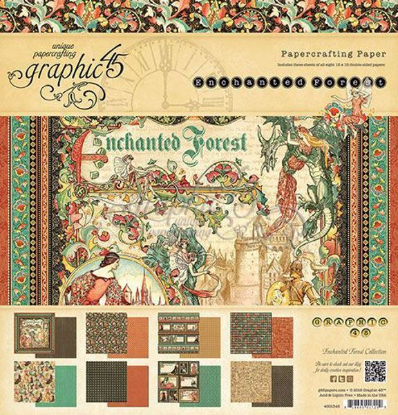 Papir blok 12x12 fra Graphic 45 - Enchanted Forest
