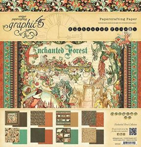 Papir blok 8x8 fra Graphic 45 - Enchanted Forest