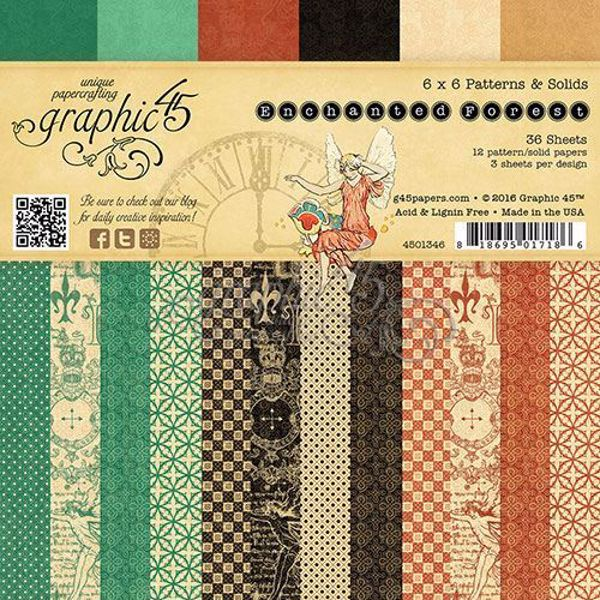 Papir blok 6x6 fra Graphic 45 - Enchanted Forest