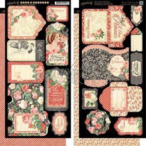 Tags og lommer i karton fra Graphic 45 - Mon Amour