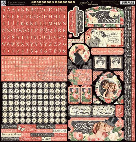 Stickers klistermærker fra Graphic 45 - Mon Amour