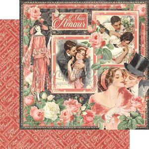 Designpapir 12x12 fra Graphic 45 - Mon Amour