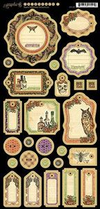 Journaling chipboard i pap fra Graphic 45 - Rare Oddities