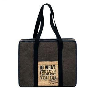 Taske fra Prym til opbevaring af håndarbejde, garn, patchwork og scrapbooking - Brun Canvas