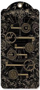 Dekorative Ur nøgler fra Graphic 45