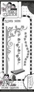 Yvonne Creations Pierrot Collection, gynge og træ YCD10080 standsejern til scrapbooking