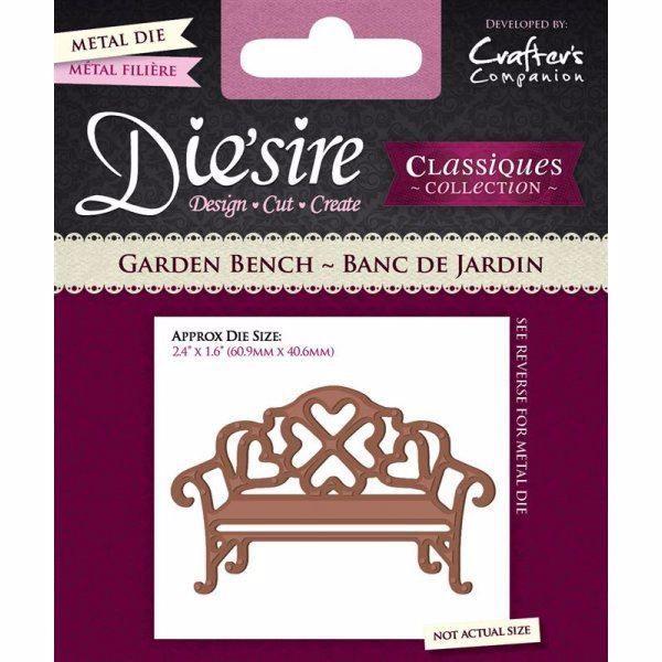 Benk, havebænk - Garden Bench - DS-C-BENCH - Die´sire Classiques Collection til scrapbooking og kort