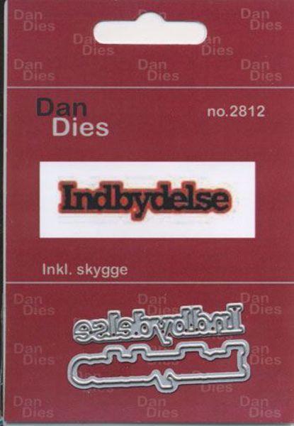 Tekst dies - Indbydelse - 2 stk. dies standsejern