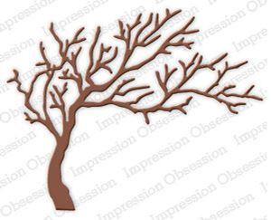 Træ DIE219-P fra Impression Obsession Rubber Stamp standsejern til scrapbooking
