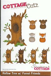 Cottage Cutz Hollow Tree x7 Forest Friends standsejern til scrapbooking - CC-230