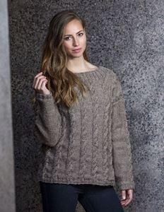 Sweater med perlestrikkede snoninger i Cataluna fra CeWeC - 2305