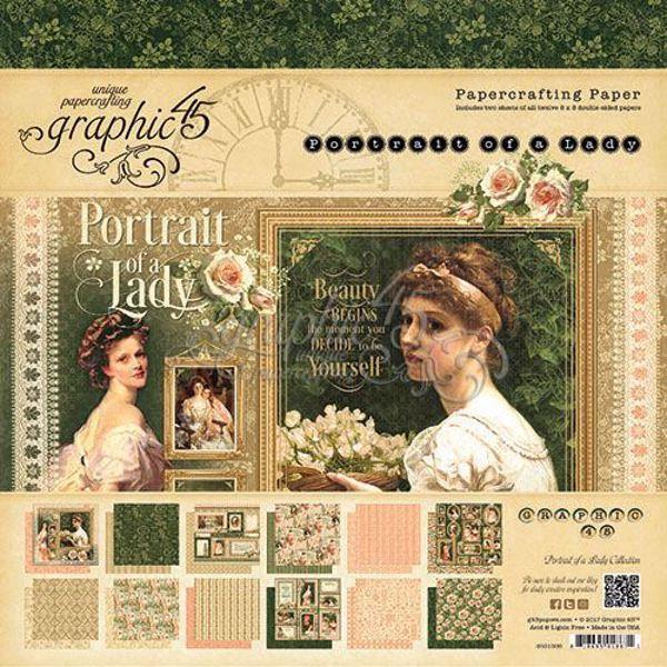Papir blok 8x8 fra Graphic 45 - Portrait of a Lady