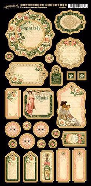 Journaling chipboard i pap fra Graphic 45 - Portrait of a Lady