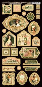 Dekorativ chipboard i pap fra Graphic 45 - Portrait of a Lady