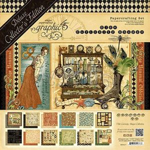 Papir blok 12x12 mm fra Graphic 45 - Olde Curiosity Shoppe - Deluxe Collector's Edition