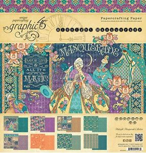 Papir blok 12x12 fra Graphic 45 - Midnight Masquerade