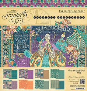 Papir blok 8x8 fra Graphic 45 - Midnight Masquerade