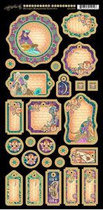 Journaling chipboard i pap fra Graphic 45 - Midnight Masquerade