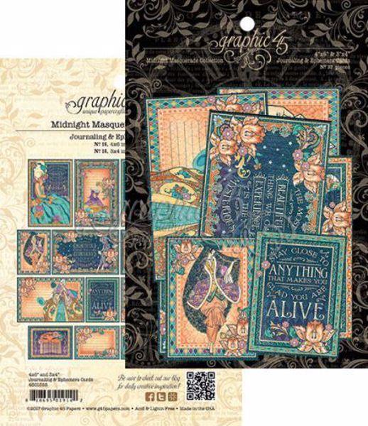 Kort i karton fra Graphic 45 - Midnight Masquerade