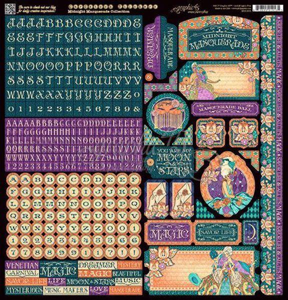 Stickers klistermærker fra Graphic 45 - Midnight Masquerade
