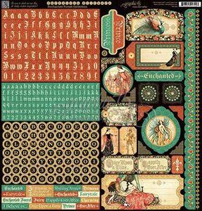 Stickers klistermærker fra Graphic 45 - Enchanted Forest