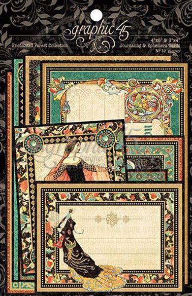 Kort i karton fra Graphic 45 - Enchanted Forest