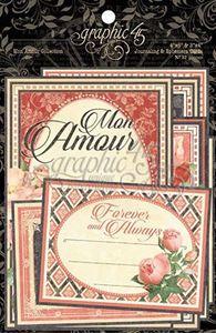 Kort i karton fra Graphic 45 - Mon Amour