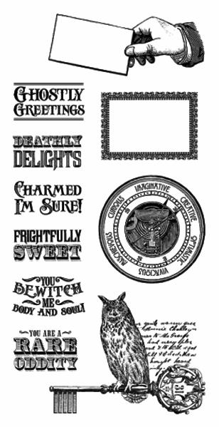 Gummi stempel fra Graphic 45 - Rare Oddities