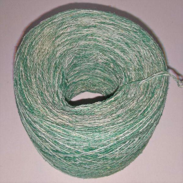 Unikt håndmalet silke noil til sommerstrik og vævning fra Ægbækgaard - Mintgrøn