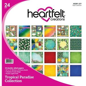 Tropical Paradice Collection - Designblok fra Heartfelt Creations