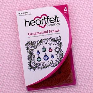 Ornamental Frame - Dies og Stempelsæt fra Heartfelt Creations - HCSD!-2008