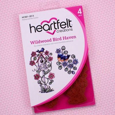 Wildwood Bird Haven - Dies og Stempelsæt fra Heartfelt Creations - HCSD1-2013