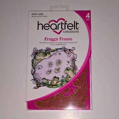 Froggy Frame - Dies og Stempelsæt fra Heartfelt Creations - HCSD1-2003