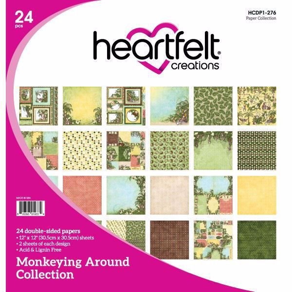 Monkeying Around Collection - Designblok fra Heartfelt Creations - HCDP1-276