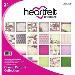 Classic Petunia Collection - Designblok fra Heartfelt Creations - HCDP1-278