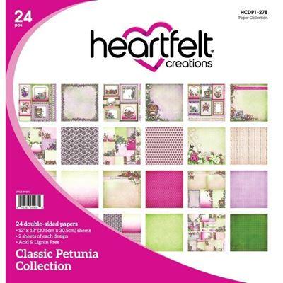Classic Petunia Collection - Designblok fra Heartfelt Creations - HCDP1-278