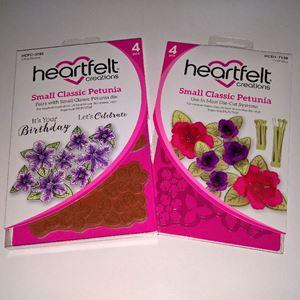 Small Classic Petunia -  dies og stempelsæt fra Heartfelt Creations - HCPC-3785 og HCD1-7139