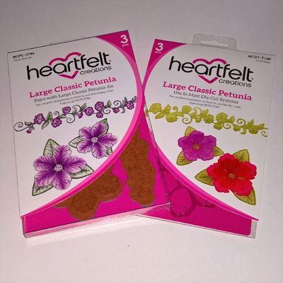 LArge Classic Petunia -  dies og stempelsæt fra Heartfelt Creations - HCPC-3786 og HCD1-7140