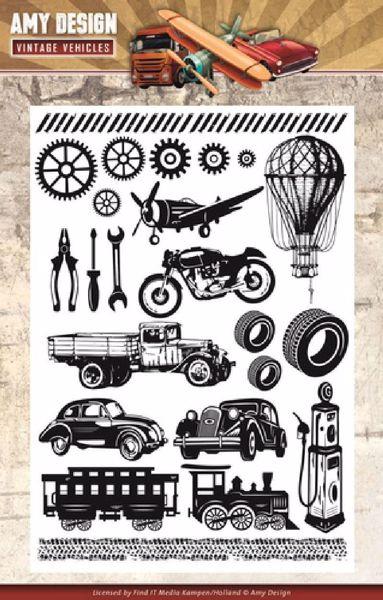 Vintage Vehicles silikonestempler fra Amy Design - AOCS10014