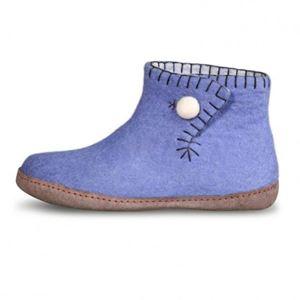 Håndfiltede filtstøvler fra Betterfelt - Daisy Lyseblå